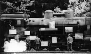 A train driver and aspiring artist displays his canvases in Closely Observed Trains, 1966, directed by Jiří Menzel.