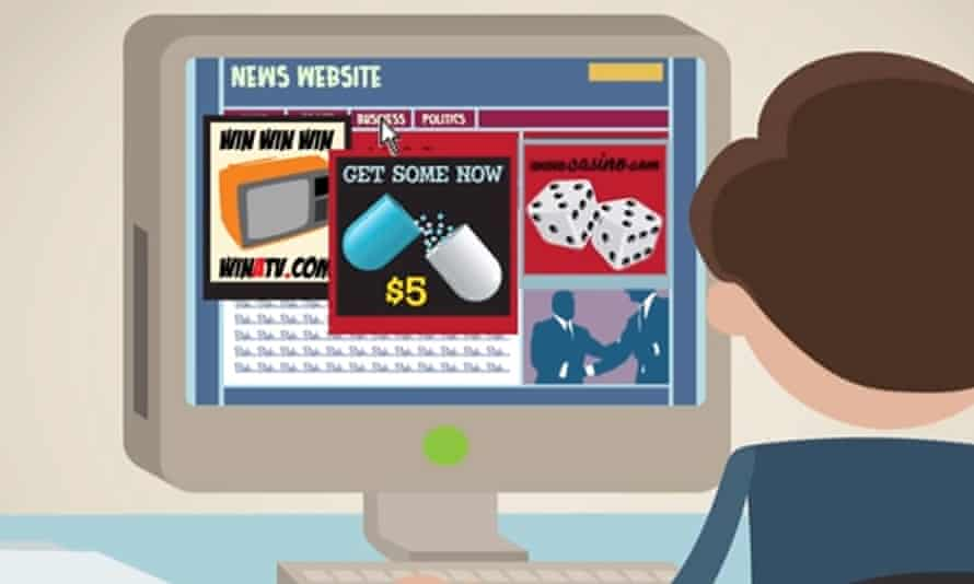 A screenshot from an Adblock Plus promotional video in 2013.