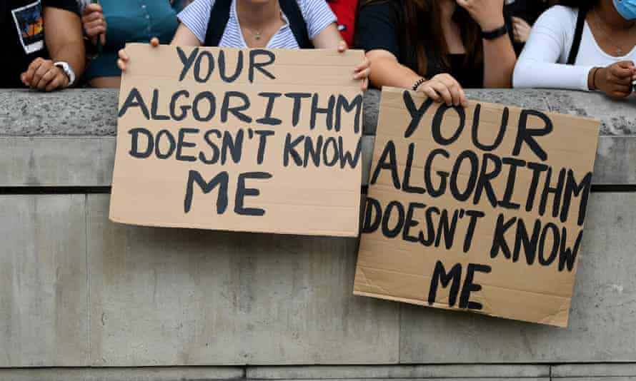 Placards at the student protests outside Downing Street over the weekend.
