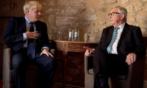 The European commission president, Jean-Claude Juncker, with Boris Johnson