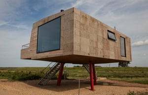 'Like the legs of a wading bird': Redshank, built from cork and cross-laminated timber, rises 2.4 metres from the ground.
