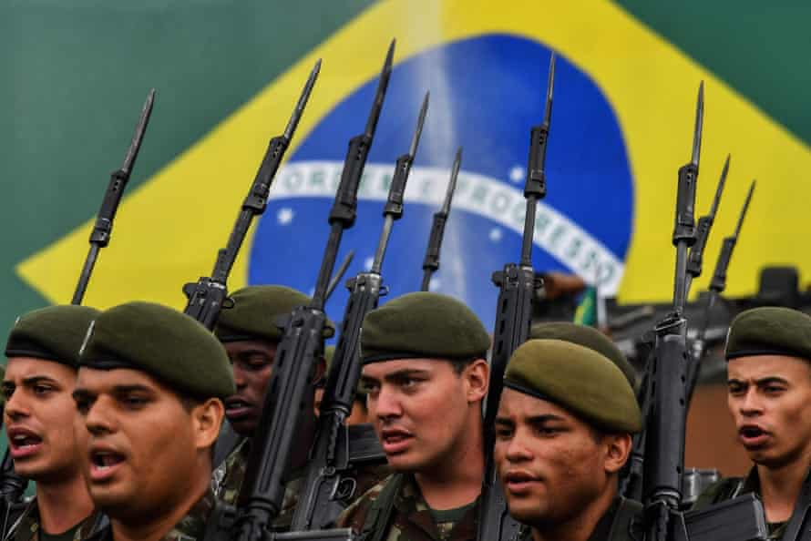 On Thursday, Brazilian soldiers commemorated the 1964 military coup.