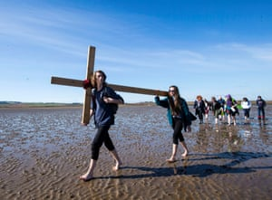 For more than 35 years, groups of pilgrims have walked together to the holy island of Lindisfarne near Berwick-upon-Tweed on the Northumbrian coast of England