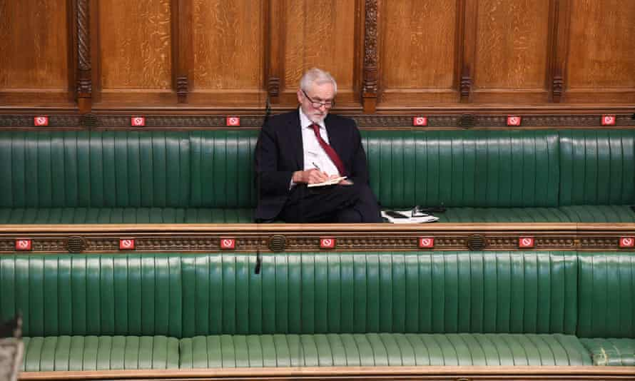 Jeremy Corbyn in the House of Commons,