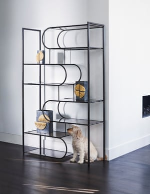 Flow shelving unit by Oretm. Osaka vases by Jonathan Adler
