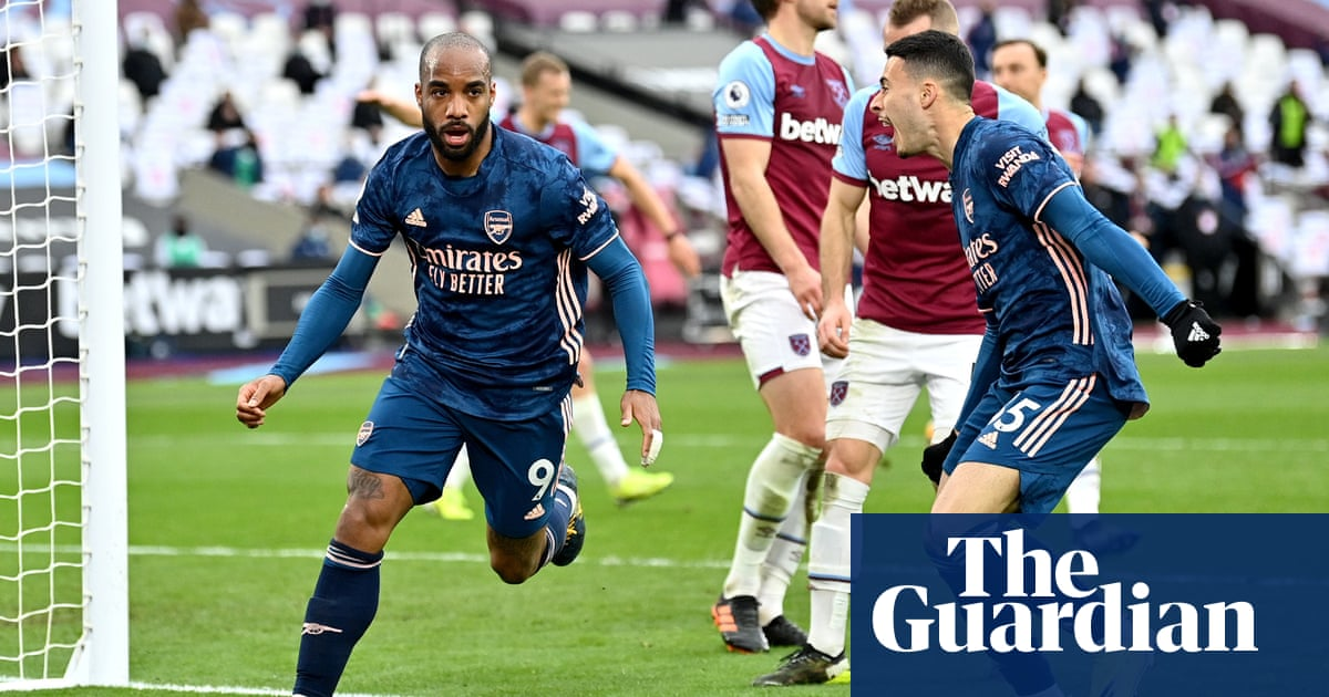 Lacazette's leveller completes Arsenal's comeback for 3-3 draw at West Ham