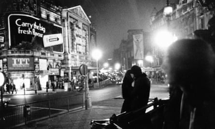 Piccadilly Square in London during the three-day week of 1974.