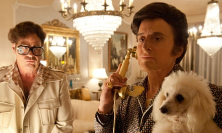 Award magnet … Michael Douglas, right, as Liberace in Behind the Candelabra.