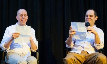Script Notes hosts John August (left) and Craig Mazin.
