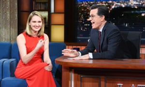 Jena Friedman on The Late Show with Stephen Colbert.