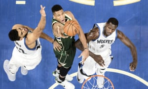 Milwaukee Bucks forward Giannis Antetokounmpo has emerged this season as a candidate for the future face of the league.