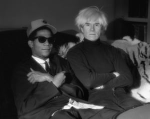 Andy Warhol and Jean-Michel Basquiat, photographed yb Jeannette Montgomery Barron.