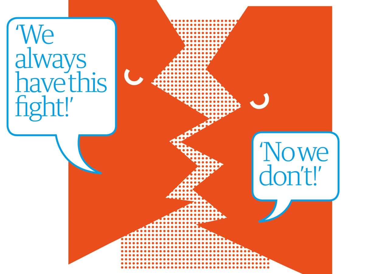 Break the cycle: how to stop having the same argument again and again and  again | Life and style | The Guardian