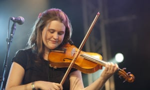 Jackie Oates performing at the Cambridge folk festival in 2010.
