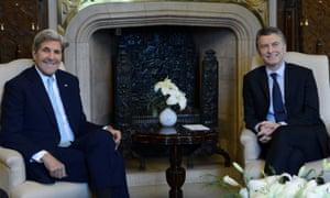 John Kerry and Mauricio Macri