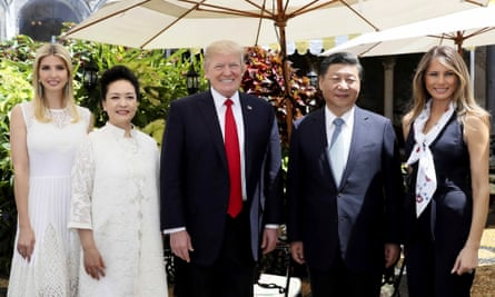 Ivanka Trump was present when Donald Trump met Xi Jinping and his wife, Peng Liyuan, in Florida this month.