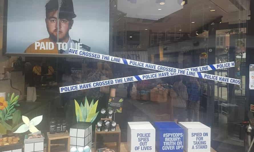 Lush spy cops shop window campaign