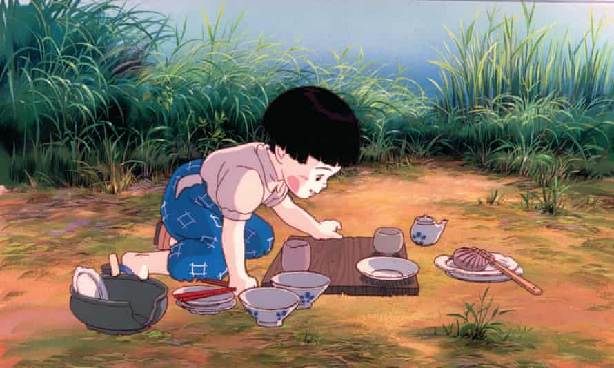 A still from Grave of the Fireflies, 1988, an emotionally harrowing antiwar film directed by Isao Takahata