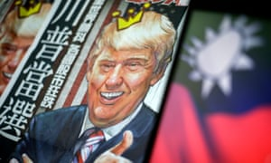 A Donald Trump newspaper headline in Taipei, Taiwan