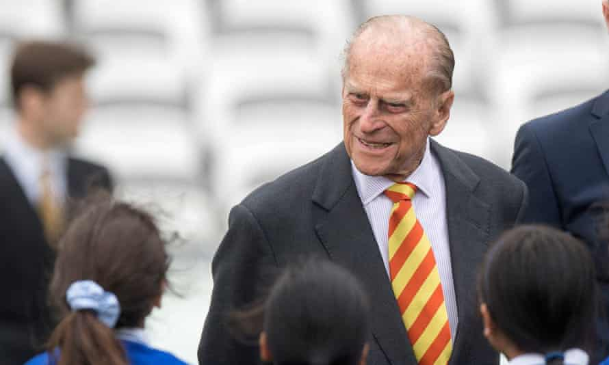 Prince Philip at Lord's cricket ground in London on Wednesday
