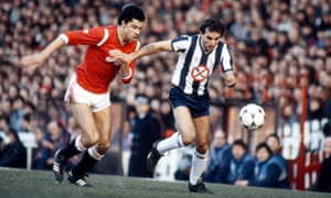 Imre Varadi and Paul McGrath compete for the ball during West Brom's defeat to Manchester United.