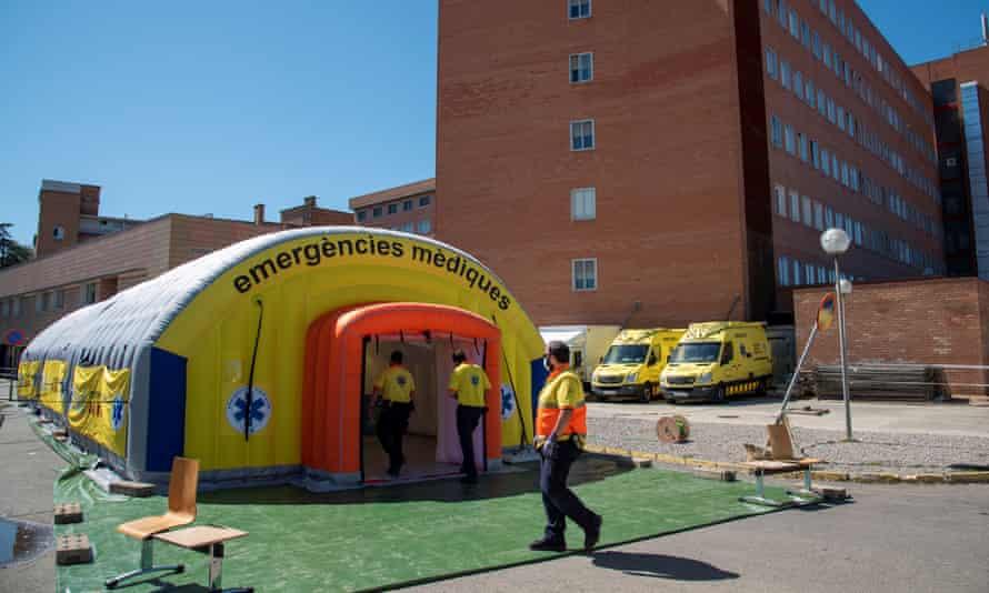 A field hospital in Lleida, Catalonia