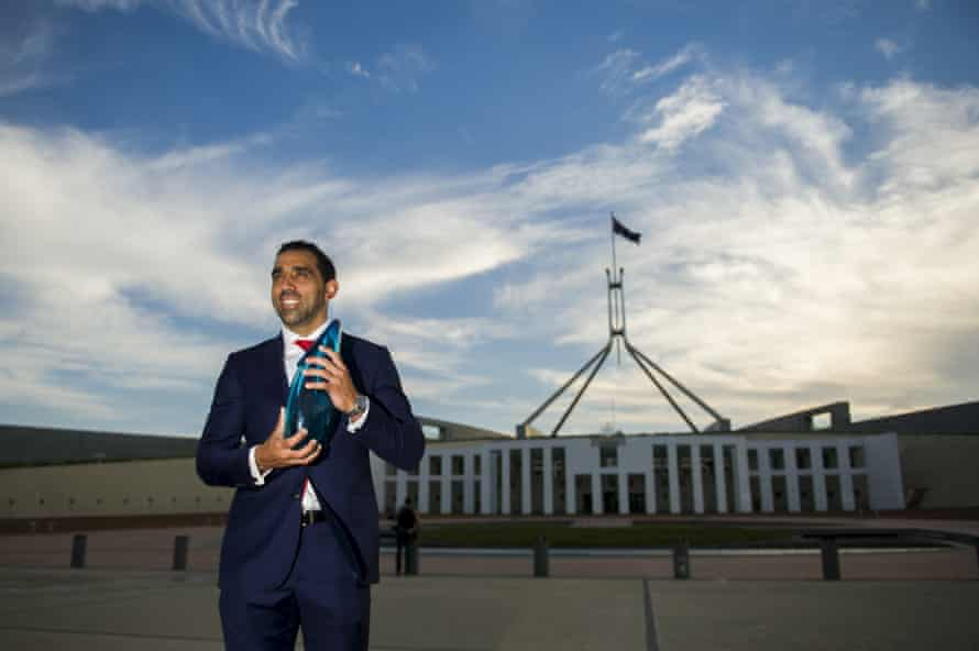 Adam Goodes was Australian of the year in 2014
