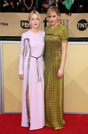 Saoirse Ronan and Greta Gerwig