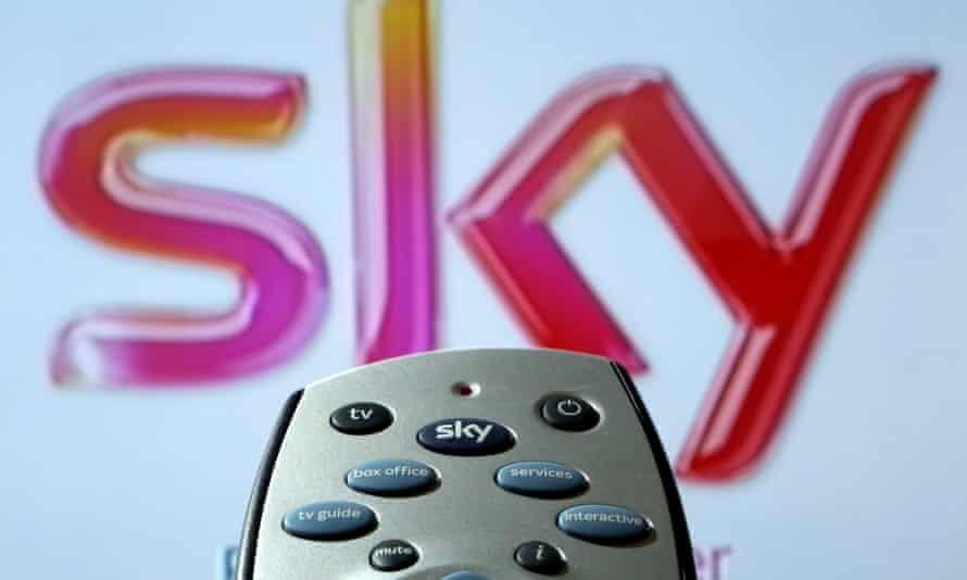 Remote control and Sky logo