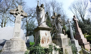 Highgate cemetery in north London