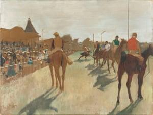 Edgar Degas, Horses before the Stands, 1866-8.