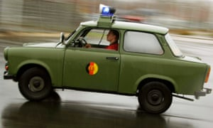 A Trabant once used by the East German army at a car rally in 2007.