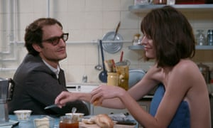 'A sad clown in a film he doesn't even get to direct' … Louis Garrel and Stacy Martin as Godard and his wife Anne Wiazemsky.