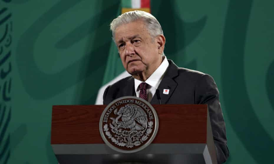 Amlo at the National Palace earlier in September.