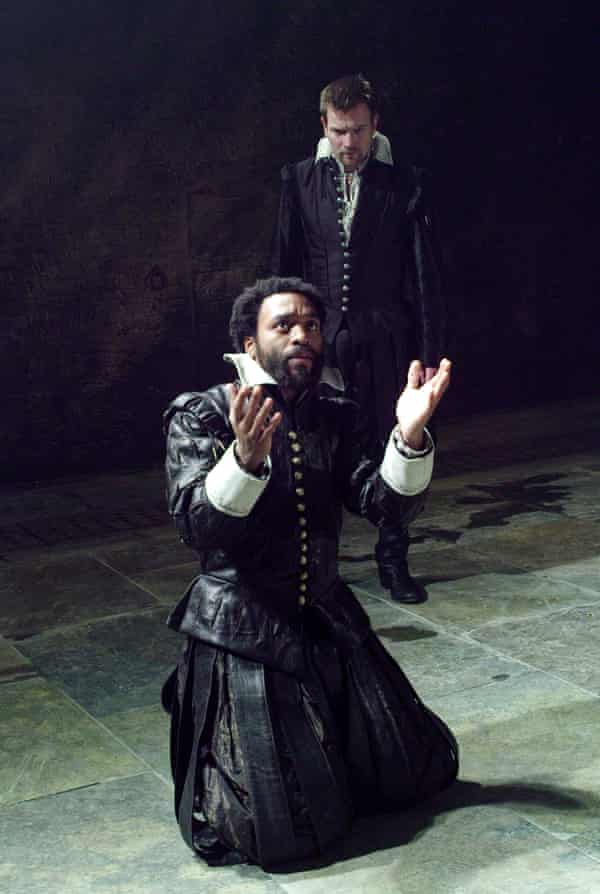 Chiwetel Ejiofor as Othello, with Ewan McGregor as Iago, at the Donmar Warehouse, London, in 2007