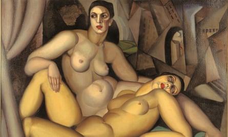 A detail from Tamara de Lempicka's Les Deux Amies (1923).