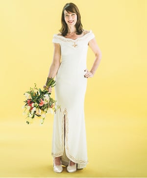 Zoe Williams in a wedding dress