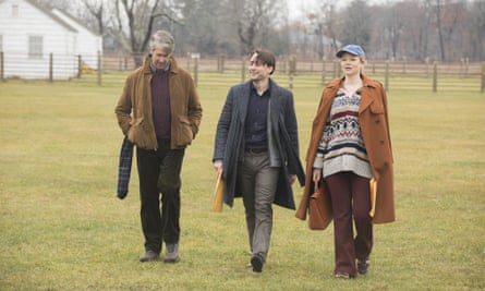 Alan Ruck, Kieran Culkin and Sarah Snook in Succession.