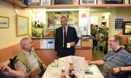 Nigel Farage, centre, claimed the Brexit vote was a victory for 'real people'.