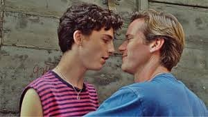 Chain reaction: Timothee Chalamet and Armie Hammer in Call Me By Your Name.