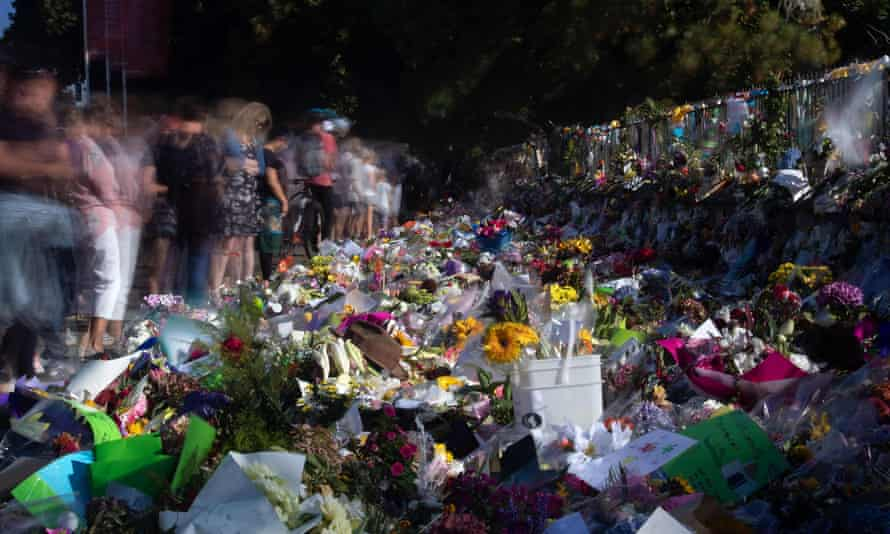 Floral tributes to those who were gunned down in the Christchurch massacre outside the city's Botanical Garden