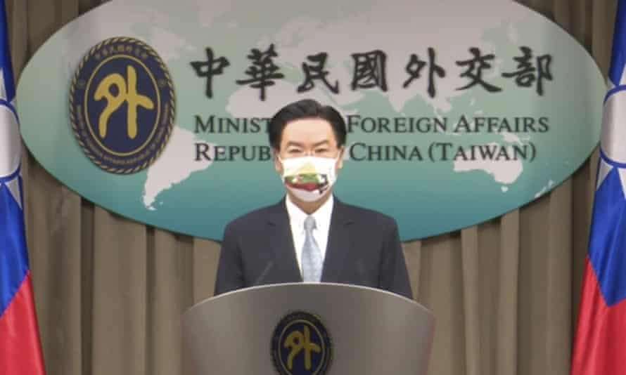 Taiwan foreign minister Joseph Wu announces an exchange of offices with Lithuania in July. The plan has enraged Beijing.