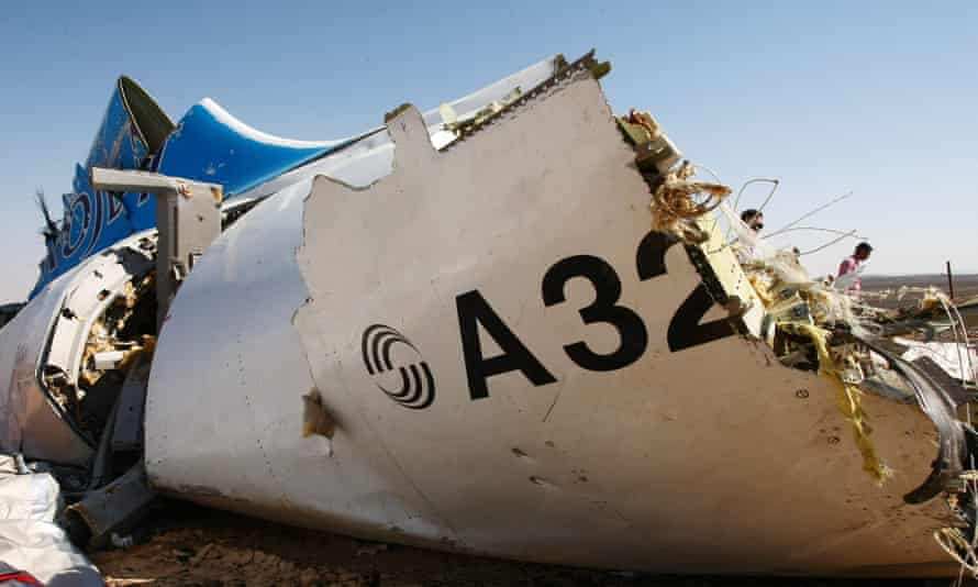 Wreckage of the Metrojet Airbus A321