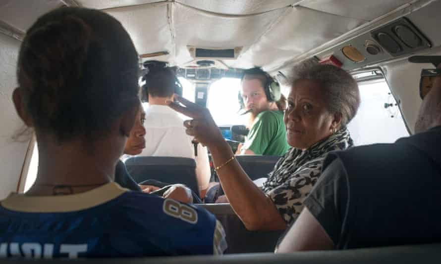 Residents of Ambae are piling into light planes to escape the island, where a volcano threatens to erupt