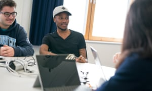 Nottingham Trent students take part in a Scale-Up session – the university now has 12 bespoke teaching rooms.