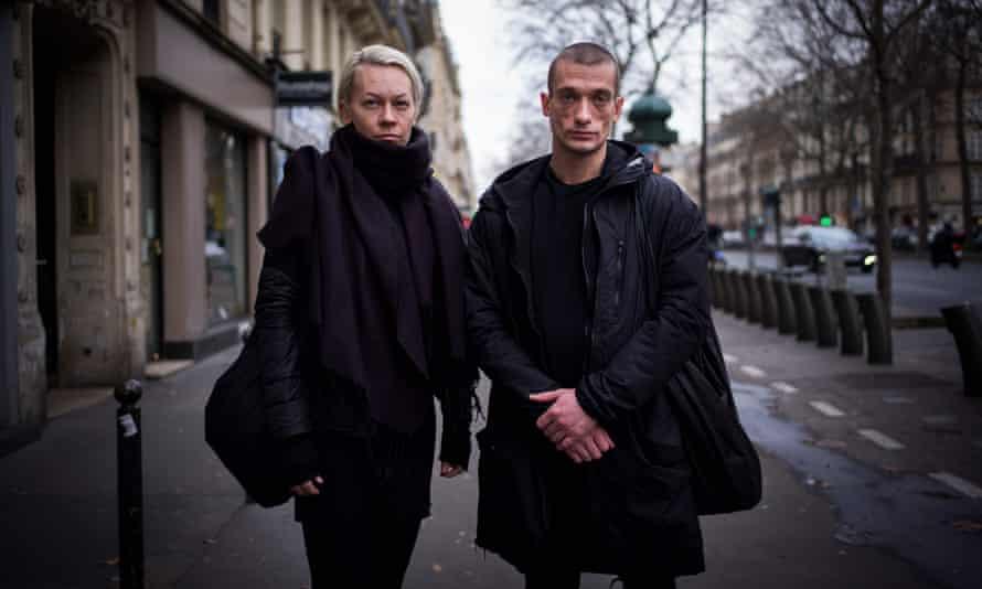 Piotr Pavlenski (right) and partner Oksana Chaliguina