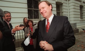 Peter Costello faces the media in May 1999