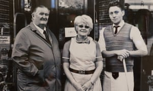 From left: Alan and Pauline Lewis with Thomas Lewis Jones.