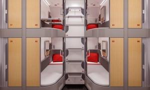 New Nightjet trains shuttered beds