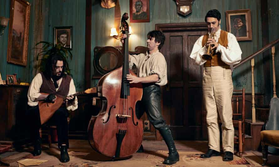 Jemaine Clement, Jonathan Brugh and Taika Waititi in What We Do In The Shadows movie